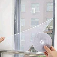 sticky tape adjustable diy window screen kit