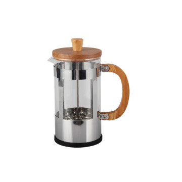 Food Grade Stainless Steel Frame Glass French Press