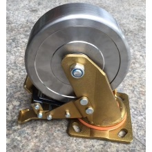 Heavy duty forged steel swivel brake caster(golden)