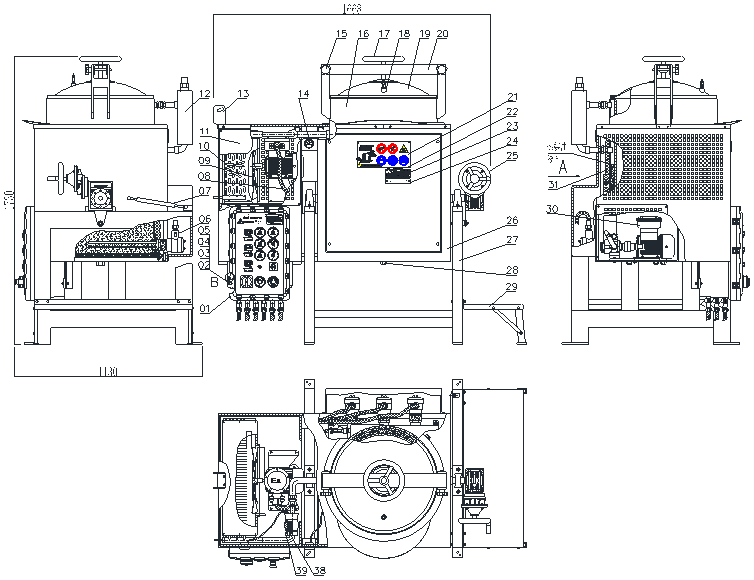 calstar solvent recycling machine CAD