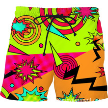 Bright shapes 3D print short pant