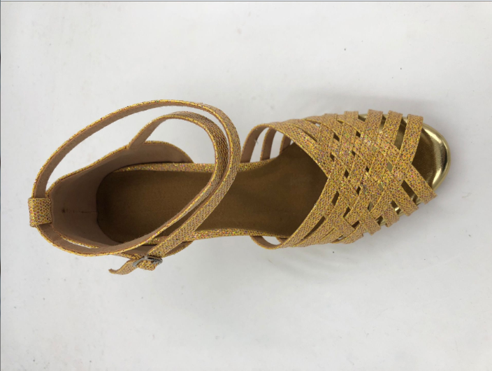 Gold Latin Shoes For Womens