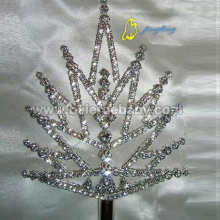 Silver Rhinestone Scepter Double Side SC-13