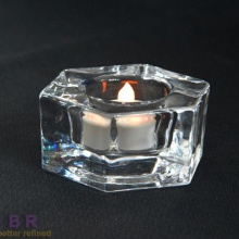 Glass Round Tealight Holder