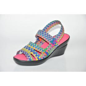 Colorful Gray Open Toe Hand Woven Upper Sandals