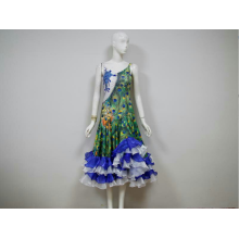 Supplier for Ladies Ballroom Dress Salsa costumes for competition FR supply to Niue Importers