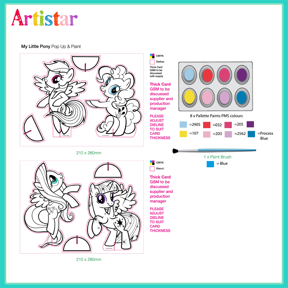My Little Pony Colouring Set 01
