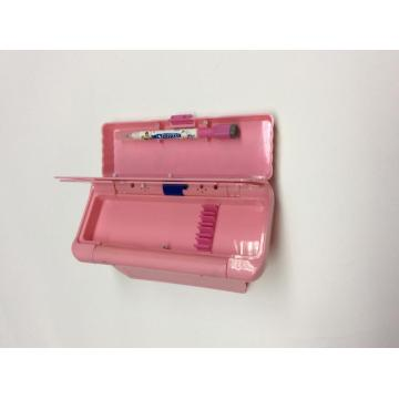 Plastic functional auto-opening pencil box