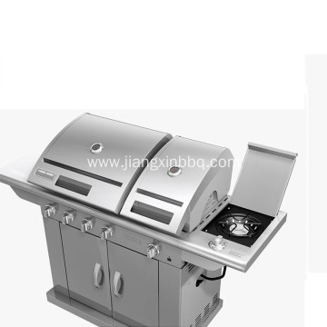 Split Lid Stainless Steel Gas Grill