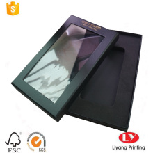 Black paper cell phone packaging gift box