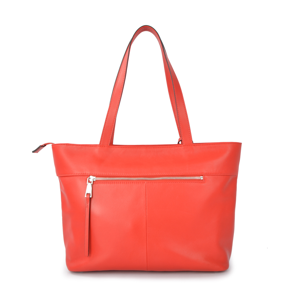 hot selling Fashion shopping tote bag ladies genuine leather shoulder bag