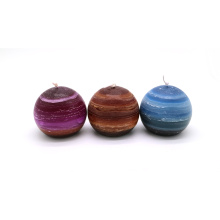 20 Years Factory for Colorful Ball Pillar Candle New Design Christmas Ball Candles supply to United States Suppliers