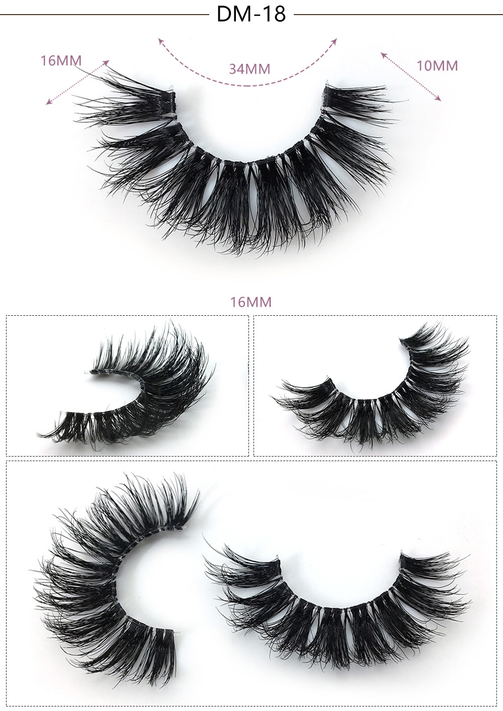 one Pair magnetic false eyelashes with luxurious box