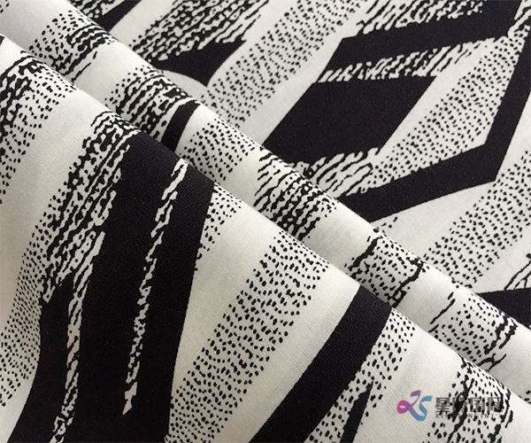 Aesthetic Abstract Pattern 100% Viscose Rayon Fabric (1)