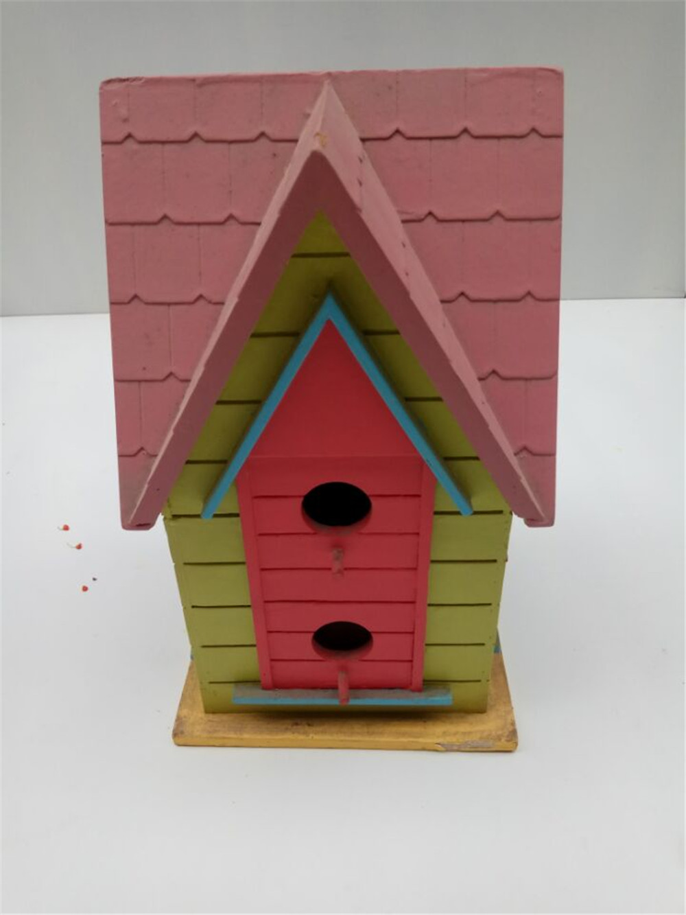 colorful big wooden bird house
