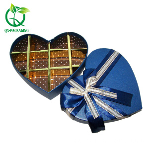 Heart shaped empty sweet chocolate boxes