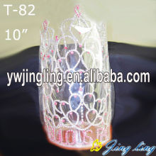 Customized for Pageant Crowns and Tiaras 10 Inch Large Tall Heart Pageant Crowns supply to Lithuania Factory