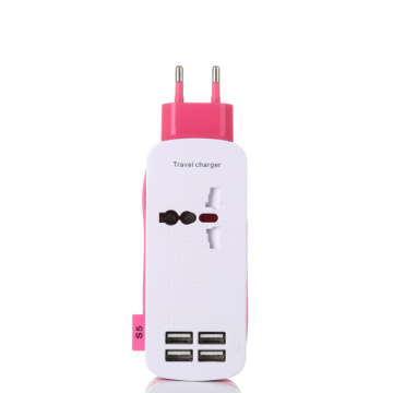 EU Plug Universal Travel 4 USB Port Charger