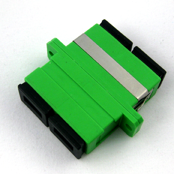 SC duplex fiber optic adapter