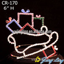 Hot New Products for Snowflake Round Crowns Christmas crowns and tiaras CR-170 export to Switzerland Factory