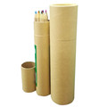 Kraft Paper Pencil Box Tube Round Paper Box