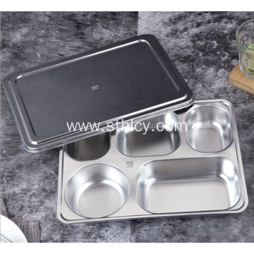 High Quality Stainless Steel Lunch Tray With Covered