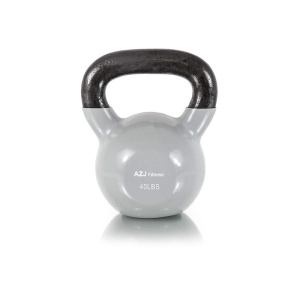40 LB White Vinyl Coated Kettlebell
