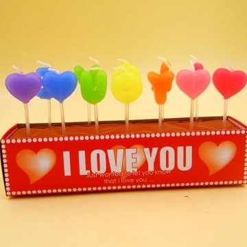 Love Shape Happy Birthday Cake Letter Candles