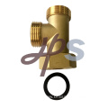 Brass 3 Way Fitting with Union for Floor Heating Brass Manifold System