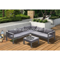 Leisure lawn aluminum deck garden furniture sofa