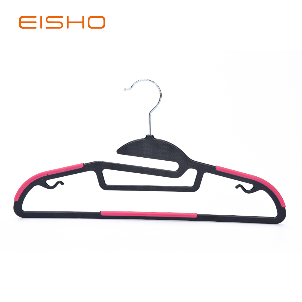 12 4 1 Non Slip Plastic Hangers With Rubber Pieces