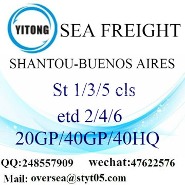Shantou Port Sea Freight Shipping To Buenos Aires