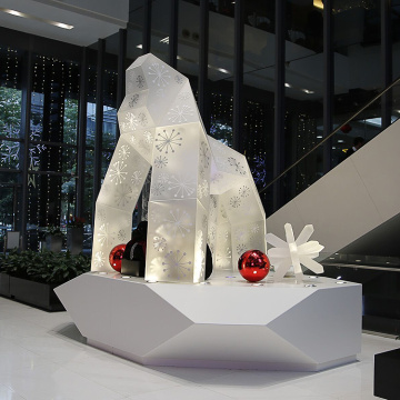 Acrylic Installation Art of Large Gorilla
