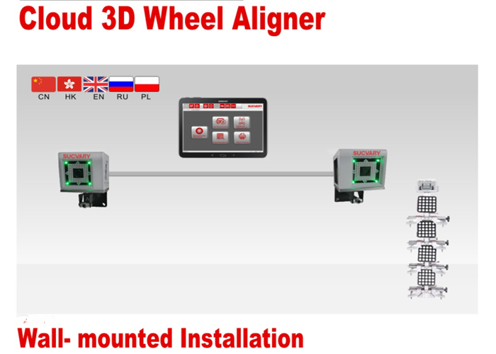 Space-saving 3D Wheel Alignment