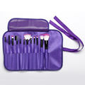 12 pieces purple makeup brushes with cloth bag
