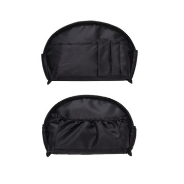 Trendy Fashion Black Small Lightweight Makeup Clutch Pouch Cosmetic Bag