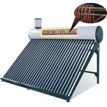 pressurized solar water heater with copper coil