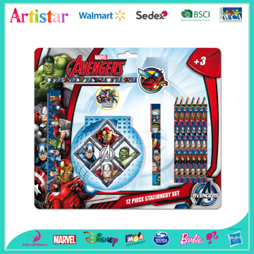 Avengers 12 piece stationery set