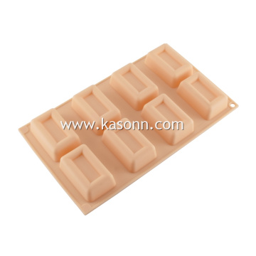 Mini Square Mini Loaf Soap Silicone Molds Pan
