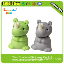 SOODODO 3D Collectible Gray Rhino Shaped Eraser