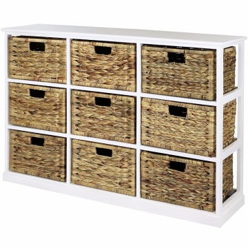 Professional for Corner Wooden Cabinet 3x3 Storage Unit - 9 Drawer with Seagrass Baskets 3x3 Storage Unit - 9 Drawer with Seagrass Baskets supply to Christmas Island Wholesale