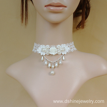 Custom Lace Choker Wedding Necklaces Daisy Female Chokers