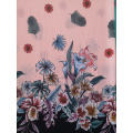 Border Flower Polyester Bubble Chiffon Printing Fabric