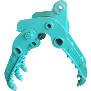 Excavator hydraulic fixed grapple