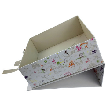 Custom Handmade Ribbon Closure Cardboard Gift Box