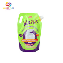 Custom Laminated Plastic Detergent Packaging With Spout