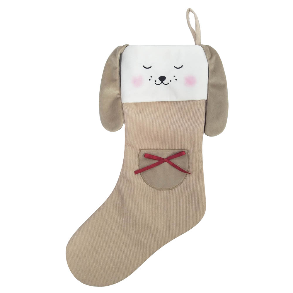 Plush 3d Animals Shape Christmas Stocking