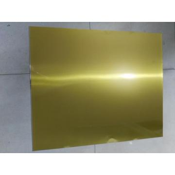 GOLD LAMINATED STEEL FOR CHEMICAL CANS
