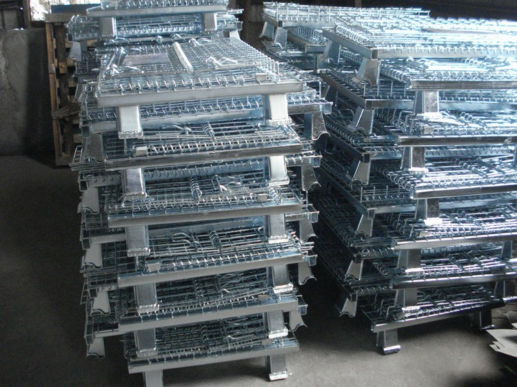 Stackable Galvanized Pallet Cage