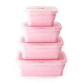collapsible silicone lunch box food storage container
